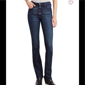 👖FRAME Le Mini Boot Button Fly Jeans (C Vinyl)